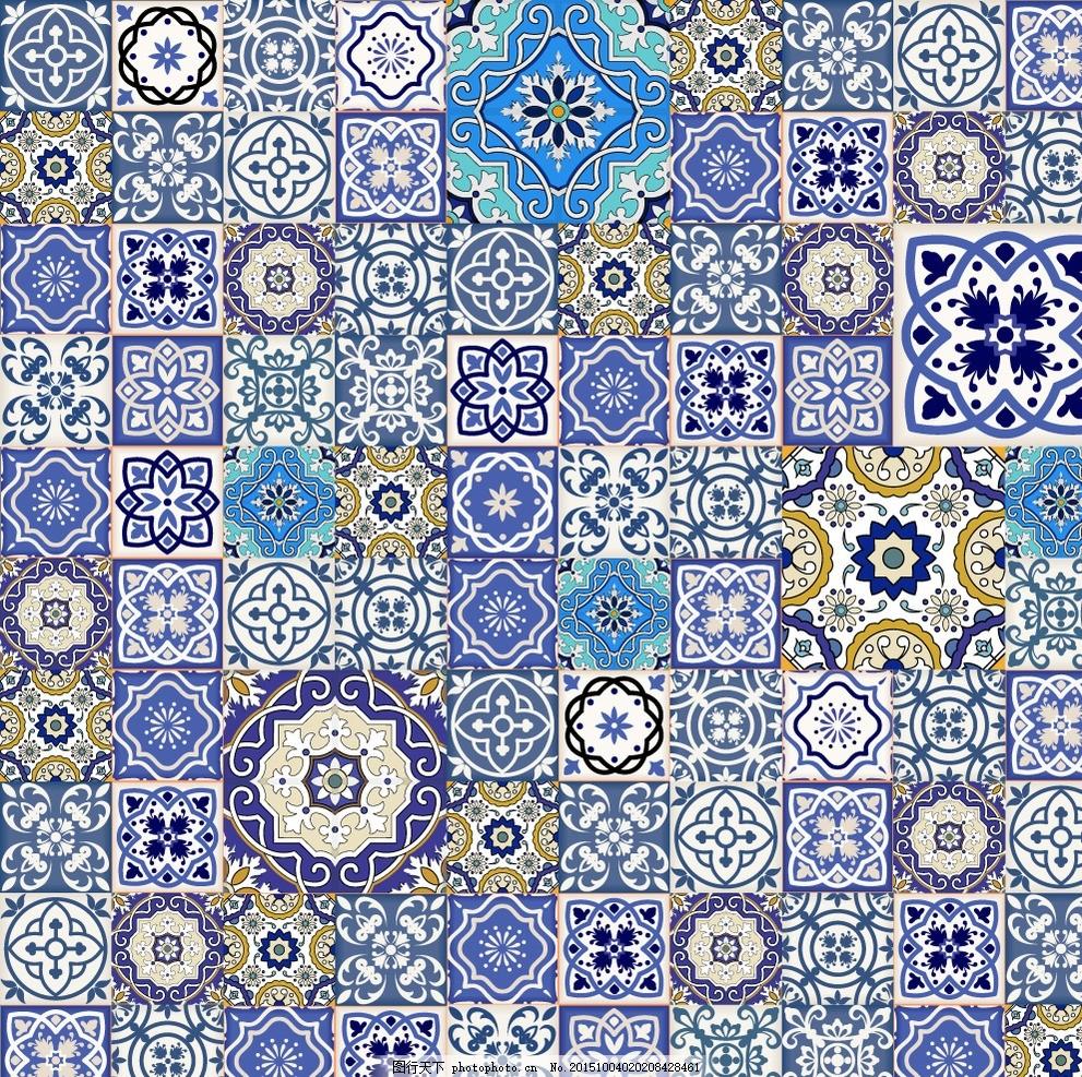 民族花纹 无缝模式花纹 对称花纹 摩洛哥 装饰花纹 欧式花纹 部落