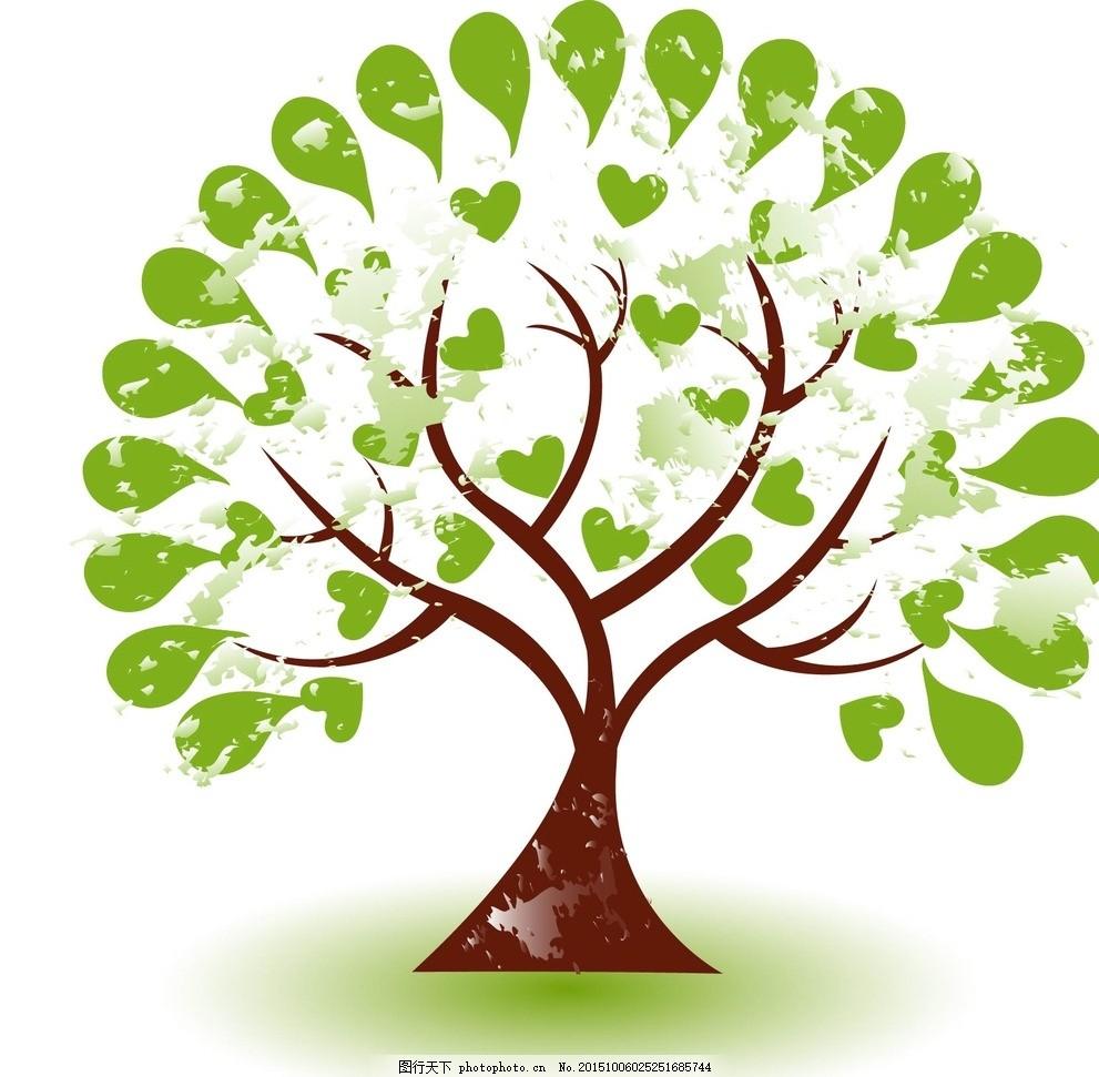 树木 绿植 绿树 生态 环保 手绘树木 树木贴图 植物 生物世界 矢量