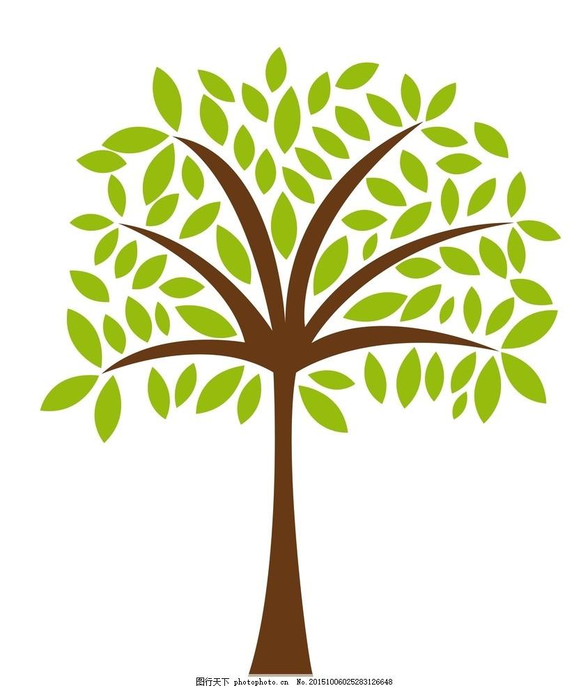 树木 绿叶 绿植 树叶 绿树 生态 环保 手绘树木 树木贴图 植物 生物