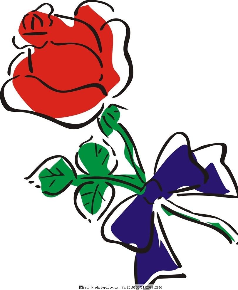 玫瑰花 鲜花 矢量图 印花 鲜艳 图案 设计 自然景观 自然风光 cdr