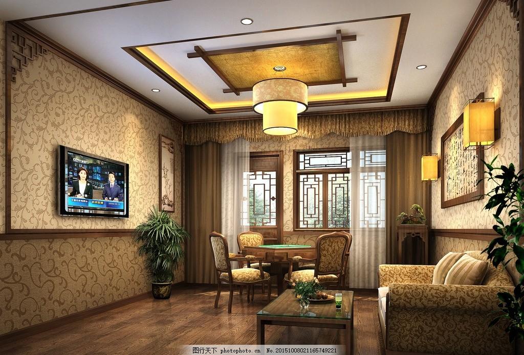 中式茶楼包间图片