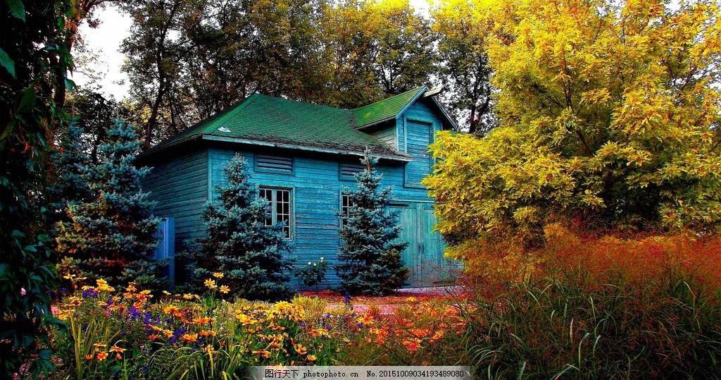 郊外小屋 风景 美丽景色 唯美风景 山水 秀丽景色 摄影