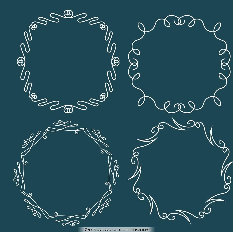 圆形花纹 花环 民族饰品花纹 装饰花纹 欧式花纹 花纹图标 部落