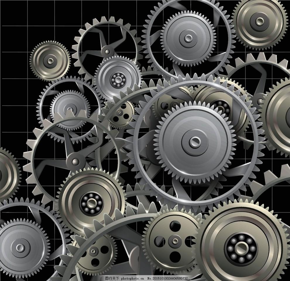 金属齿轮 机械 齿轮 工业 齿轮链 3d齿轮 立体齿轮 机器 转动 科技