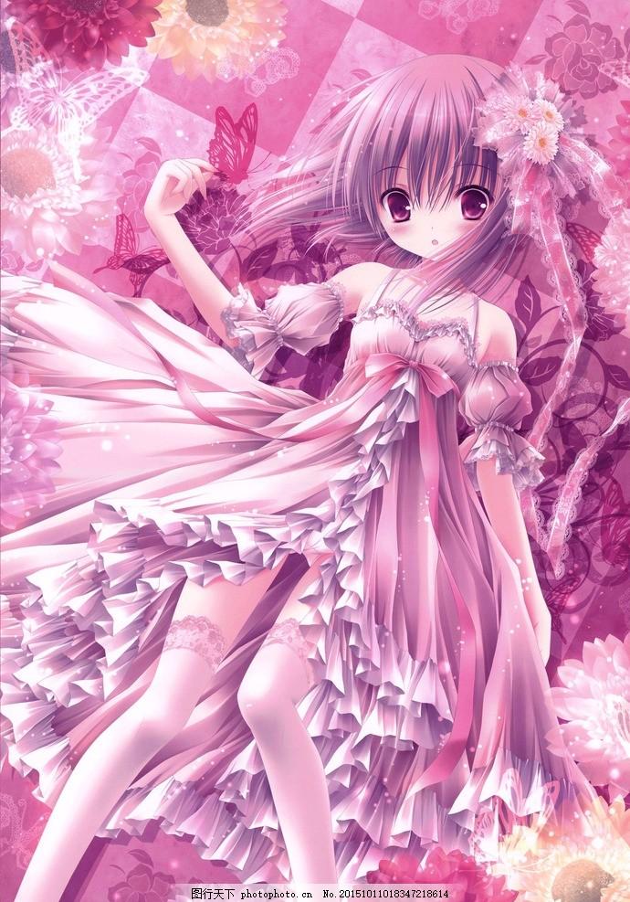 花仙子 美术 插画 小姑娘 小女孩 小仙女 花朵 鲜花 动漫动画