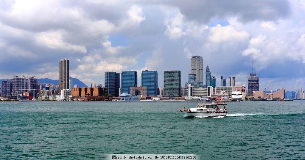 香港九龙半岛 香港岛 天空 自然风光 旅游摄影
