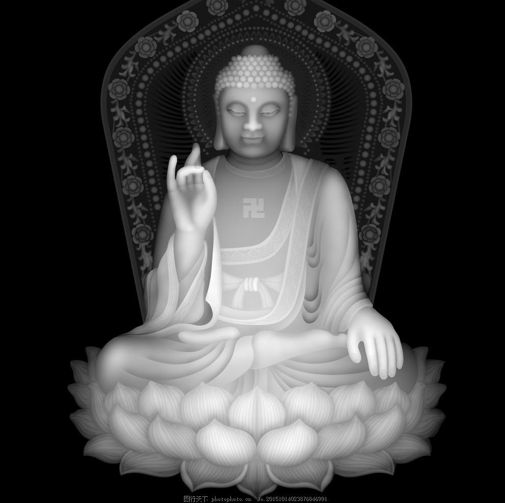 如来 灰度 浮雕 雕刻 佛祖