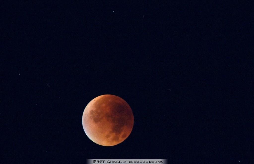 月亮 圆月 夜晚 黑色背景 月儿 风景 摄影