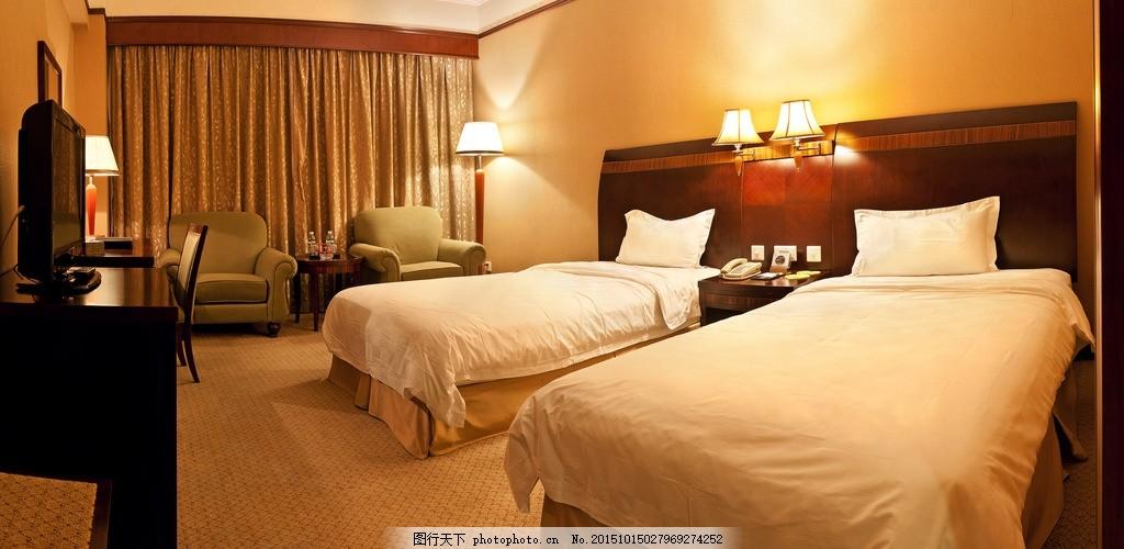 酒店客房 星级酒店 欧式家具      双人间 标准间 摄影 建筑园林 室内