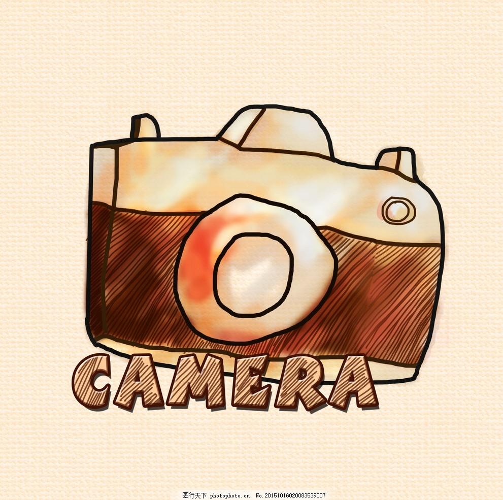 相机图标 手绘图标 圆角图标 涂鸦图标 可爱图标