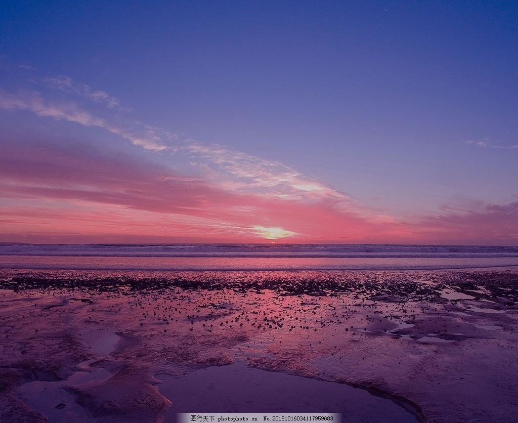 大气 背景 高清 夕阳 星空 海边 摄影 自然景观 自然风景 72dpi jpg