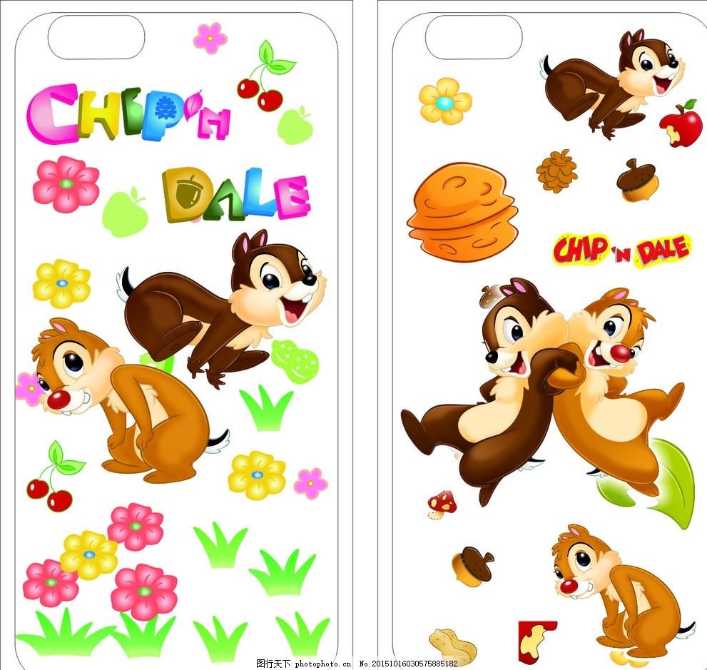 iphone6彩绘手机壳 花 松鼠 动物 卡通动物 手机套 皮套