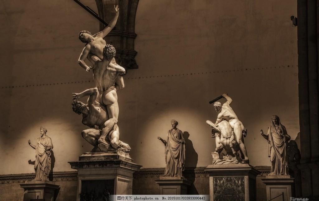 欧洲雕塑 意大利 石膏 人物 摄影 国外旅游