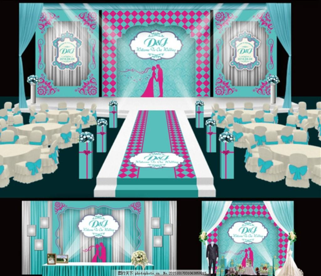 欧式婚礼 主题婚礼效果 婚礼效果图 蓝色婚礼 欧式婚礼效果 婚礼布置图片