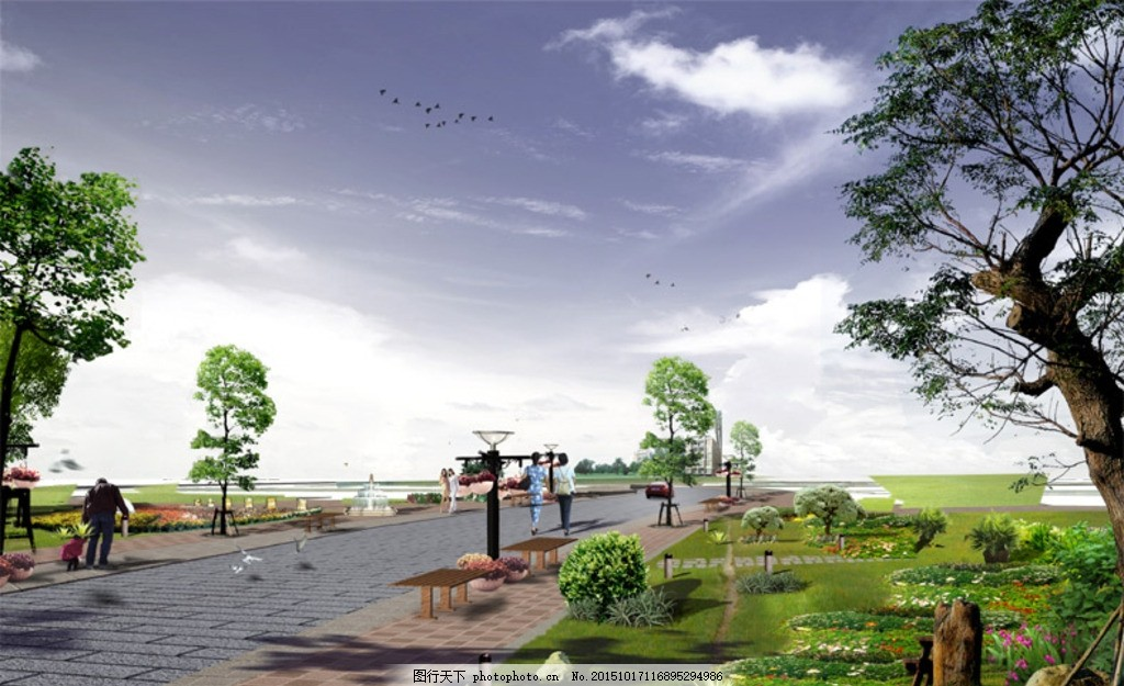 分层风景素材 绿化设计 绿色植物 绿植 分层植物 树 绿树 小区