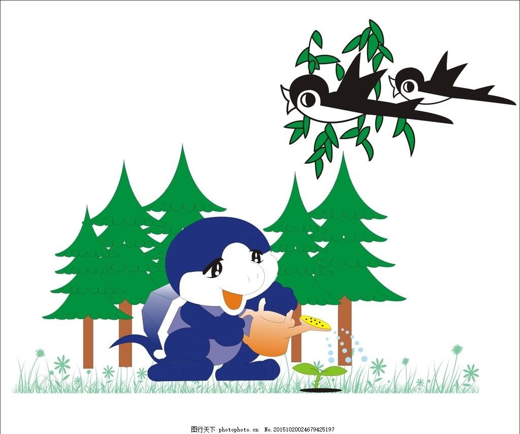 燕子 燕 矢量图 动物 小燕子 鸟类 飞燕 森林 卡通人物 卡通人 草地