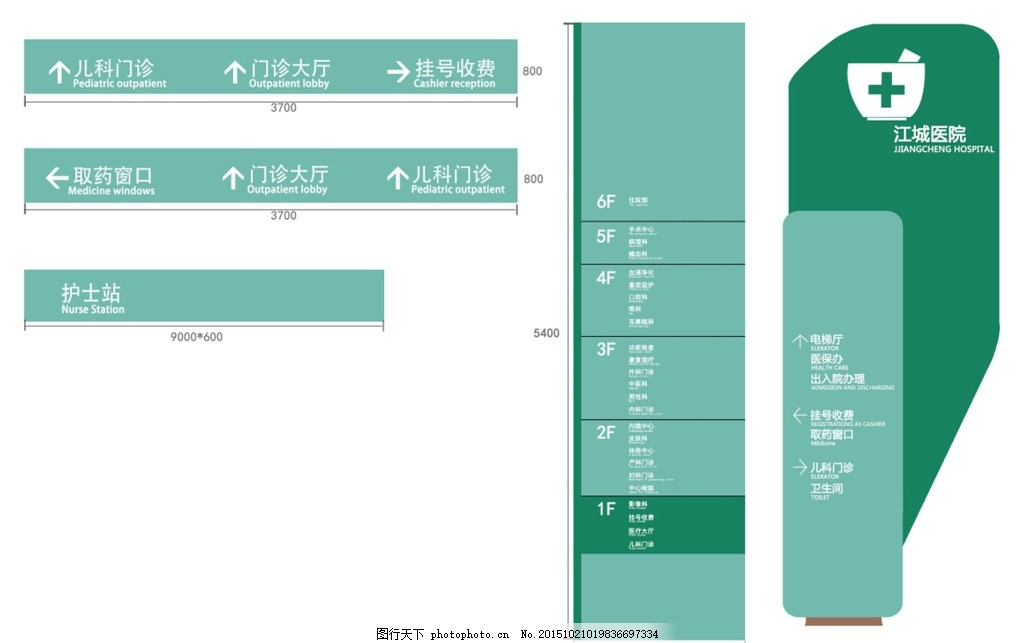 标志设计 设计方案 标志设计方案 医院导视方案 通道吊牌 设计 标志图