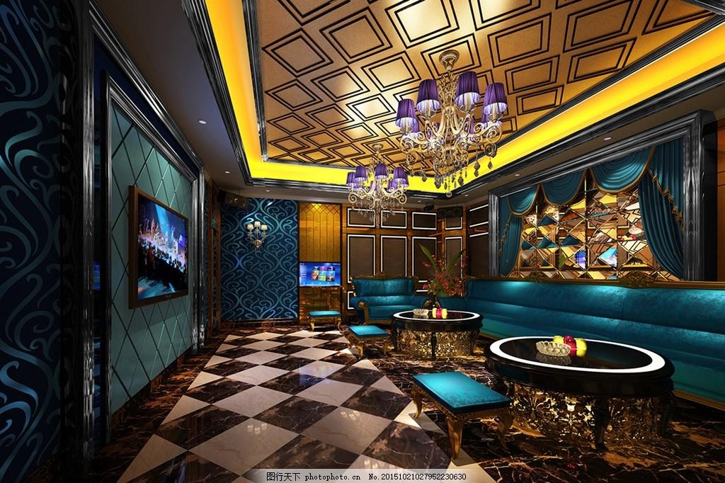 星级酒店ktv中包厢设计效果图
