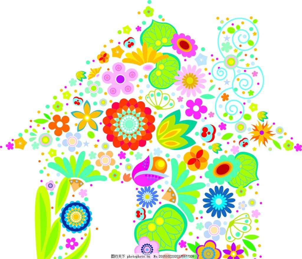 唯美碎花小动物 小碎花 花朵 花纹 古典花纹 古典背景 布花 花布 面料