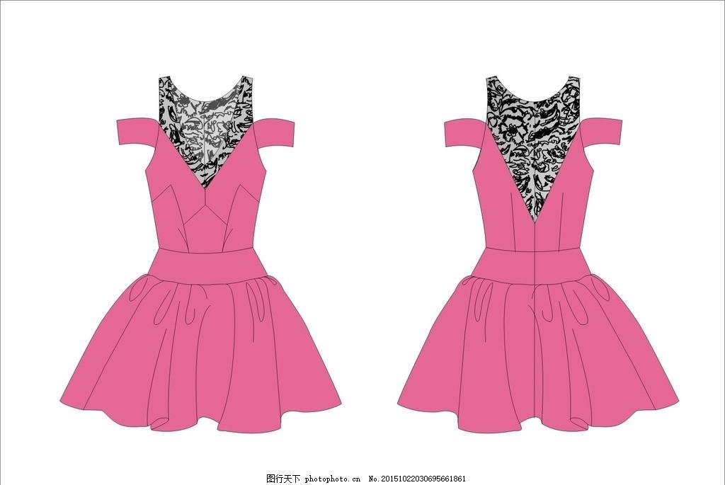 性感礼服连衣裙 女装设计 女装结构图 套装 时装结构图 时尚插画