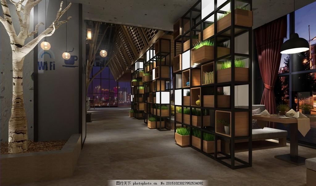 咖啡吧 原生态 室内 设计 装修 二次元 设计 环境设计 室内设计 72dpi