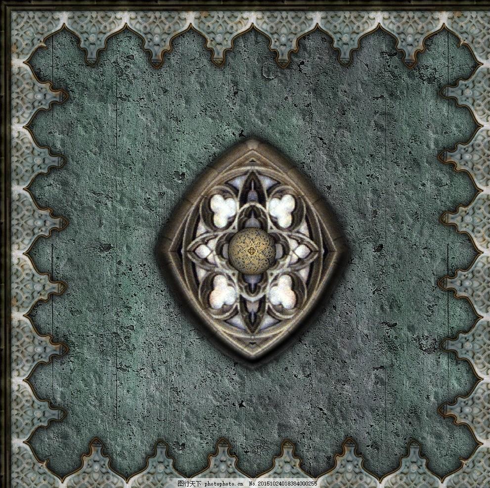 地砖材质 高贵典雅 无缝瓷砖贴图 欧式古典花纹 复古花纹 花纹花边 欧