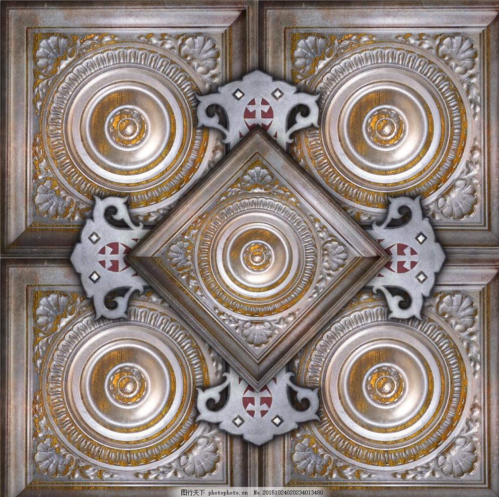 装饰图案 古典花纹 传统花纹 3d贴图 3d素材 3d材质贴图 三维素材 max