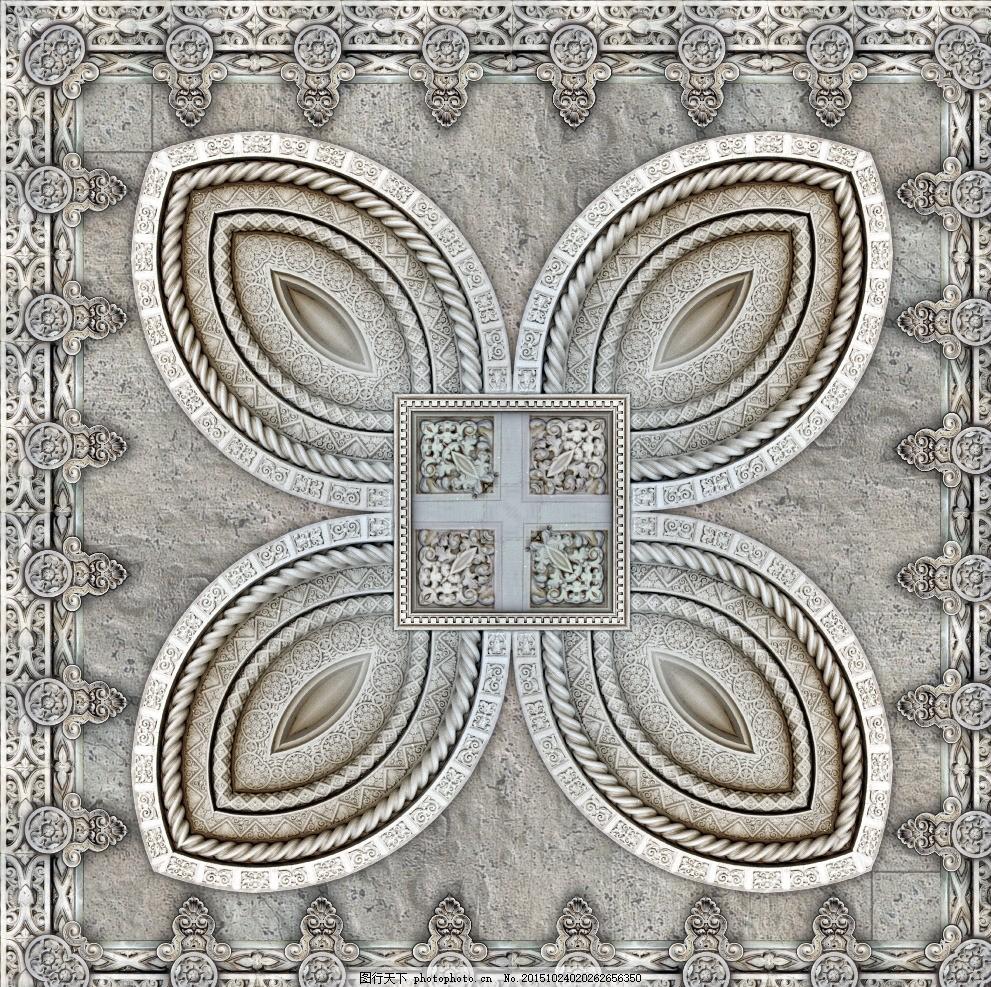 高贵典雅 无缝瓷砖贴图 欧式古典花纹 复古花纹 花纹花边 欧式花边 欧