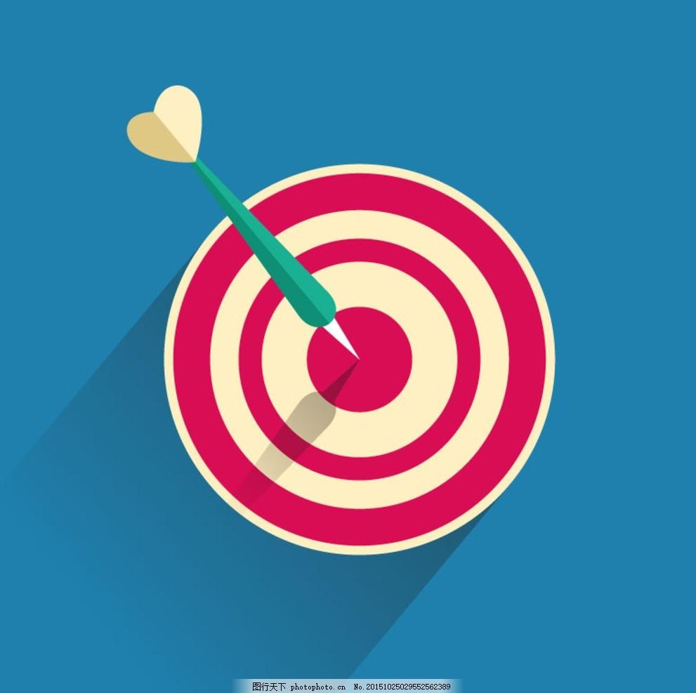 标靶背景矢量素材 标靶 靶心 目标 箭靶 射击 插画 背景 海报 画册