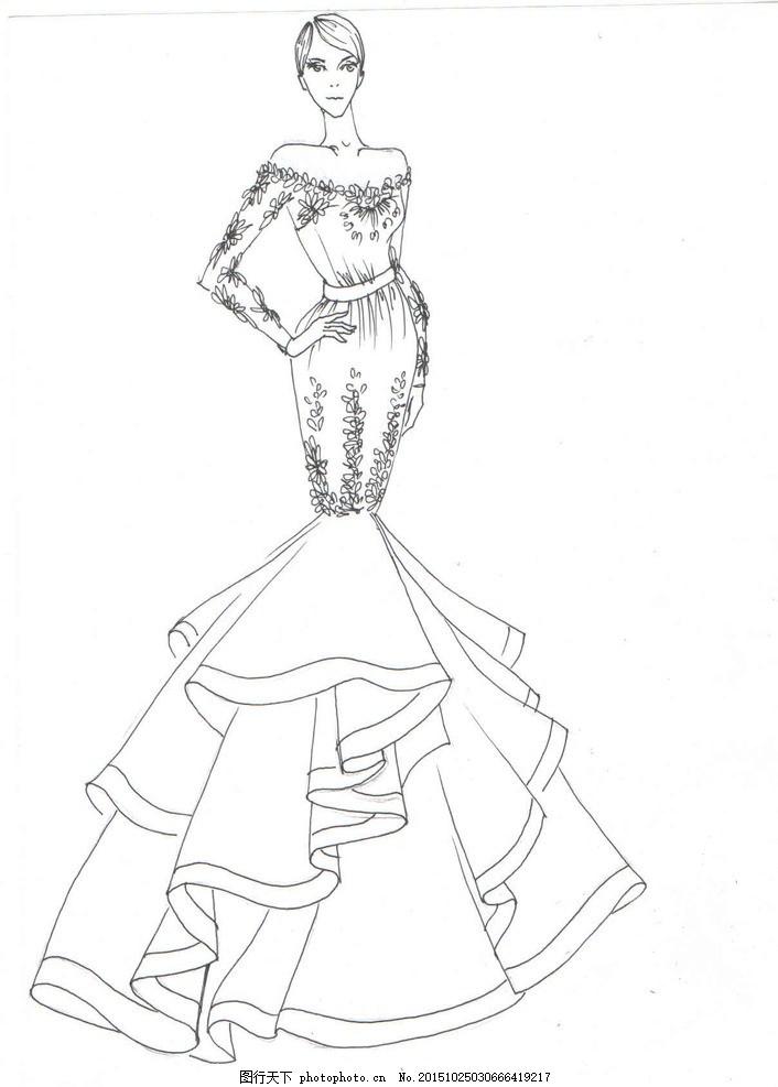 服装设计线稿