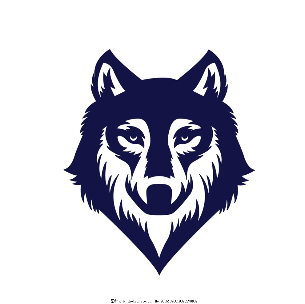 狼 logo 设计 狼图腾 图腾 标志 设计 文化艺术 绘画书法 72dpi jpg