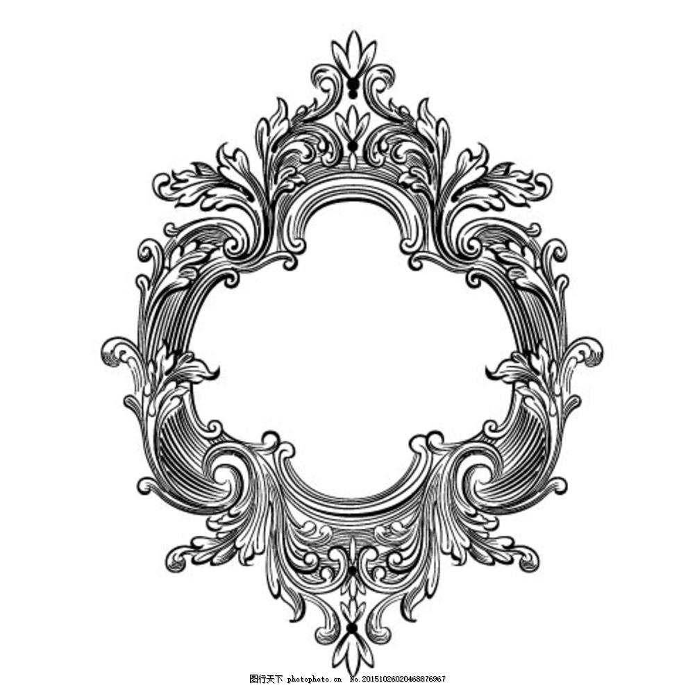 欧式复古蕾丝边镜子