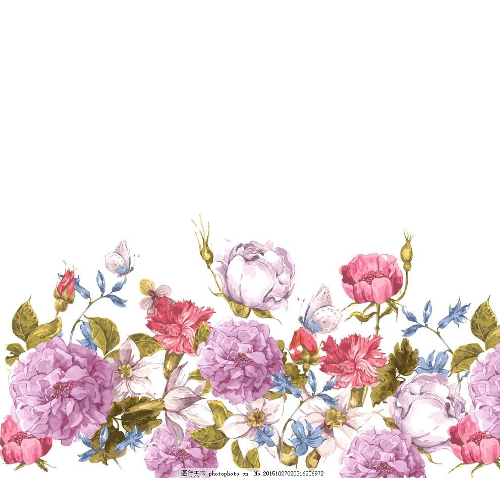 抽象花 里料花纹 花纹 花儿 欧美时尚花朵 印花 服装印花 素材花 设计