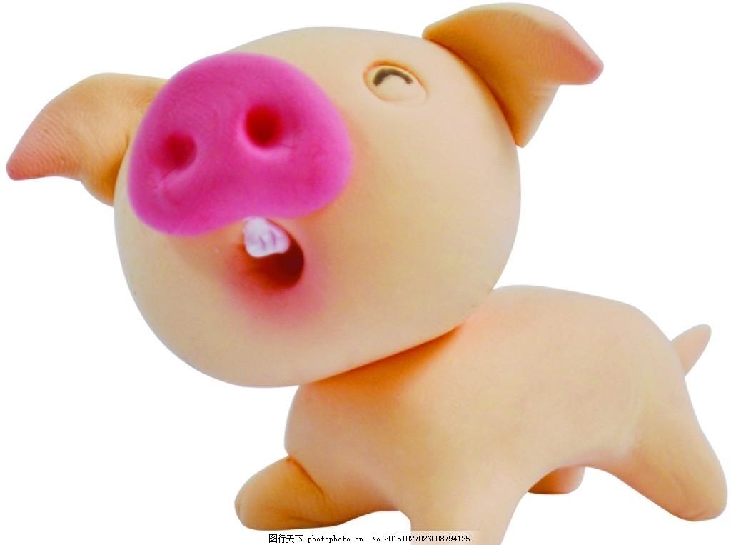 可爱 超轻粘土 公仔 小猪 可爱 超轻粘土 公仔 diy 小动物 小猪 摄影