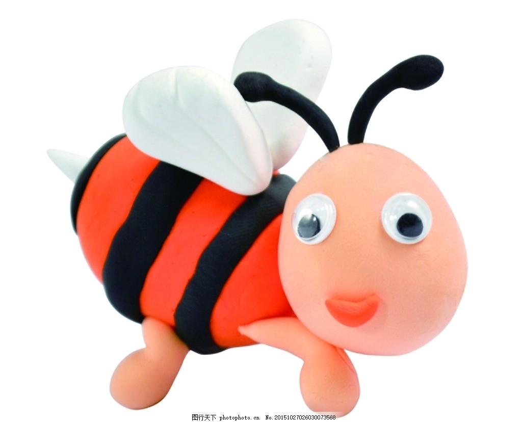 可爱 超轻粘土 小蜜蜂 可爱 超轻粘土 公仔 diy 小动物 小蜜蜂 摄影