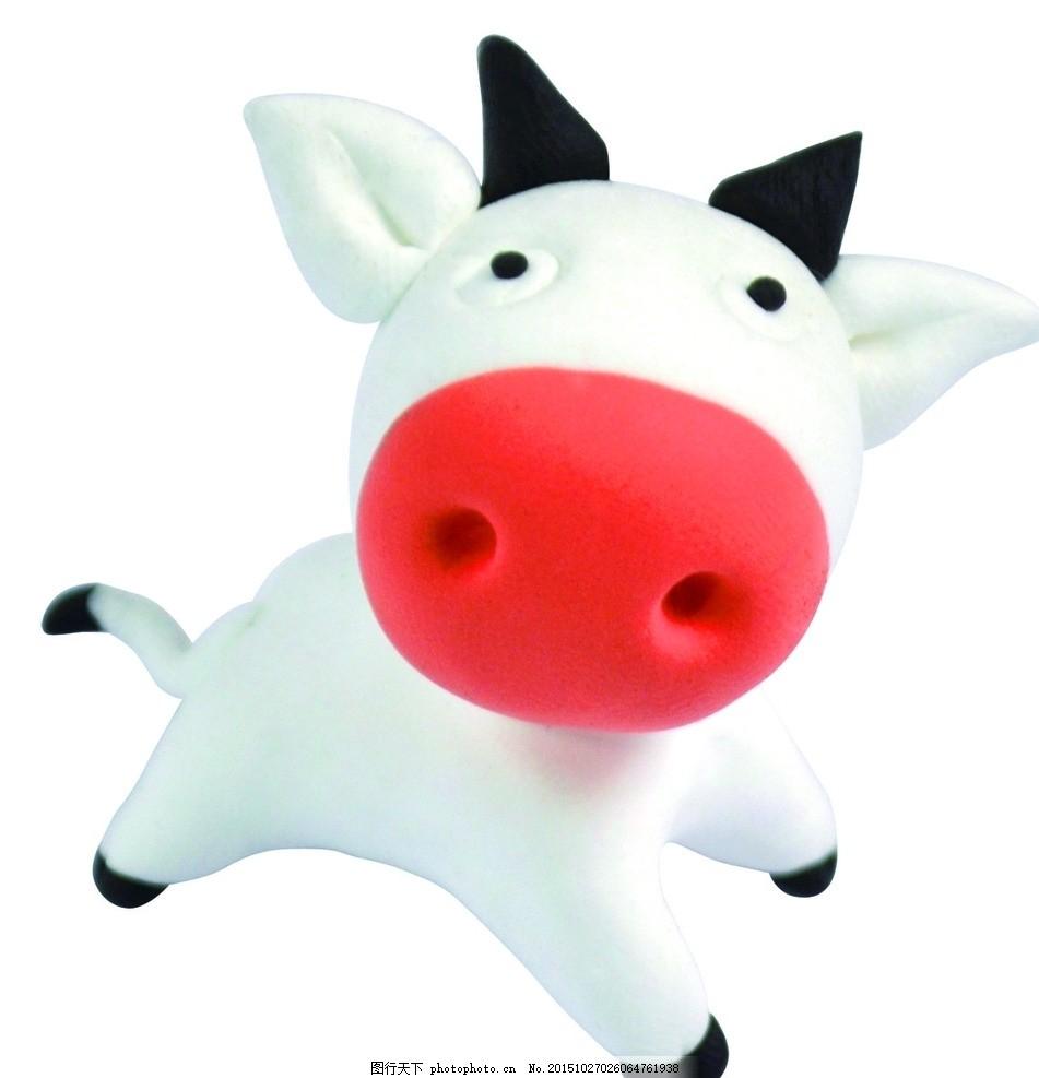 可爱 超轻粘土 公仔 奶牛 可爱 超轻粘土 公仔 diy 小动物 奶牛 摄影