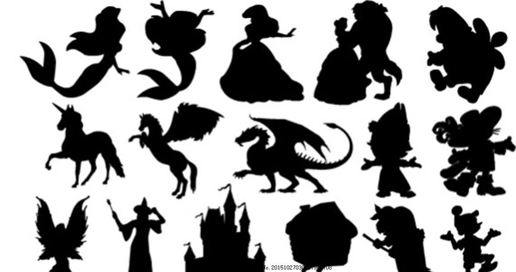动物剪影 动物 剪影 卡通 美人鱼 素材 设计 广告设计 卡通设计 eps