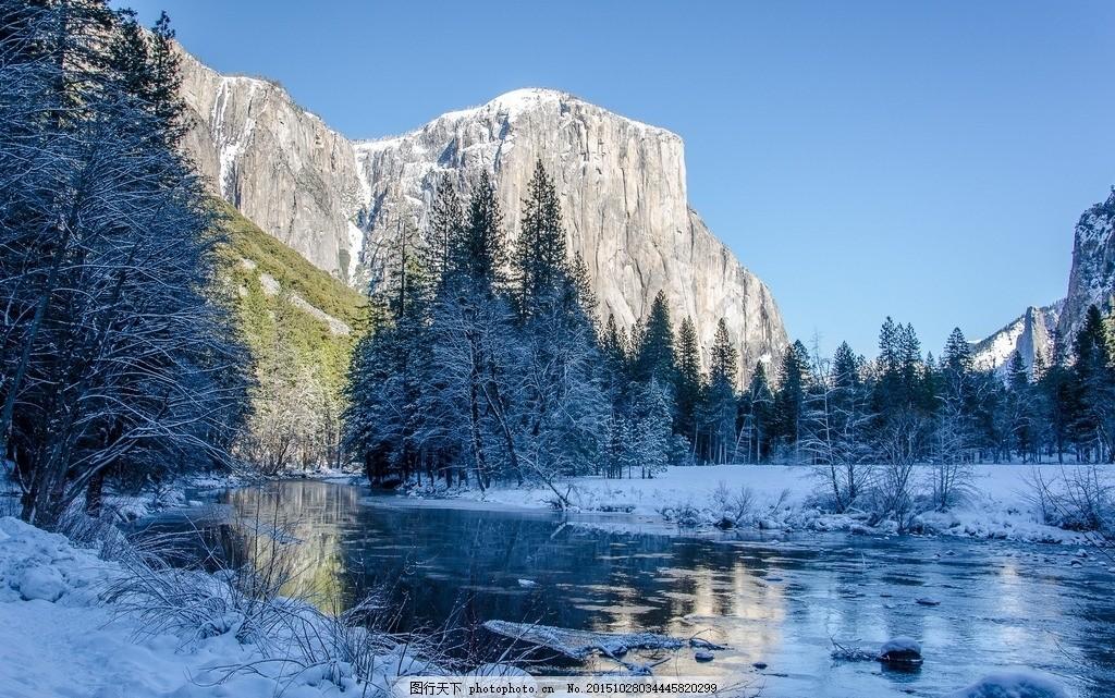 悬崖 崖 雪 河流 河 冬天 666 摄影 自然景观 山水风景 609dpi jpg