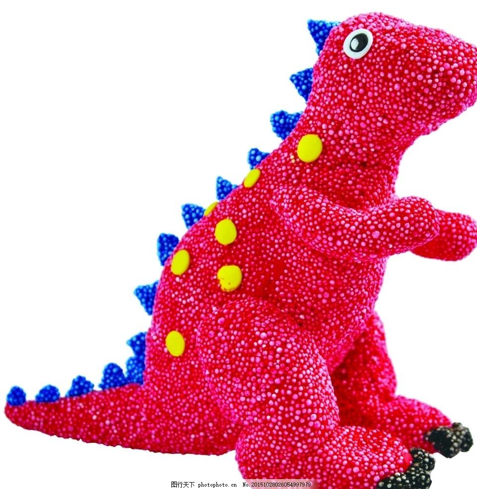雪花粘土超轻粘土公仔可爱恐龙