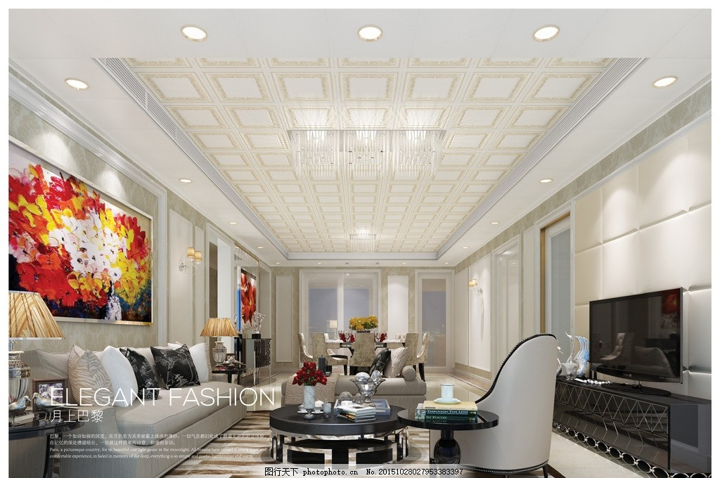 容声集成吊顶客厅效果图 容声 集成吊顶             高清 设计 环境