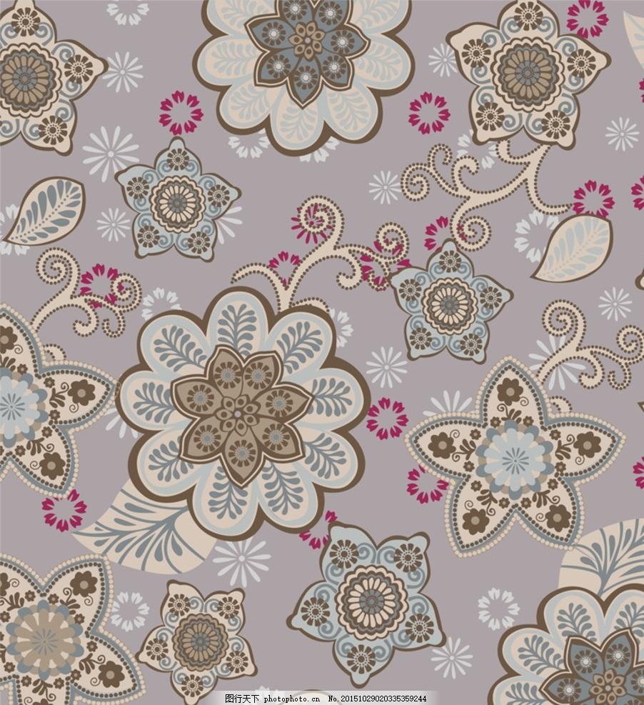 服装图案 植物花纹 欧式花纹 抽象底纹 小碎花 包装装饰 壁纸 花卉
