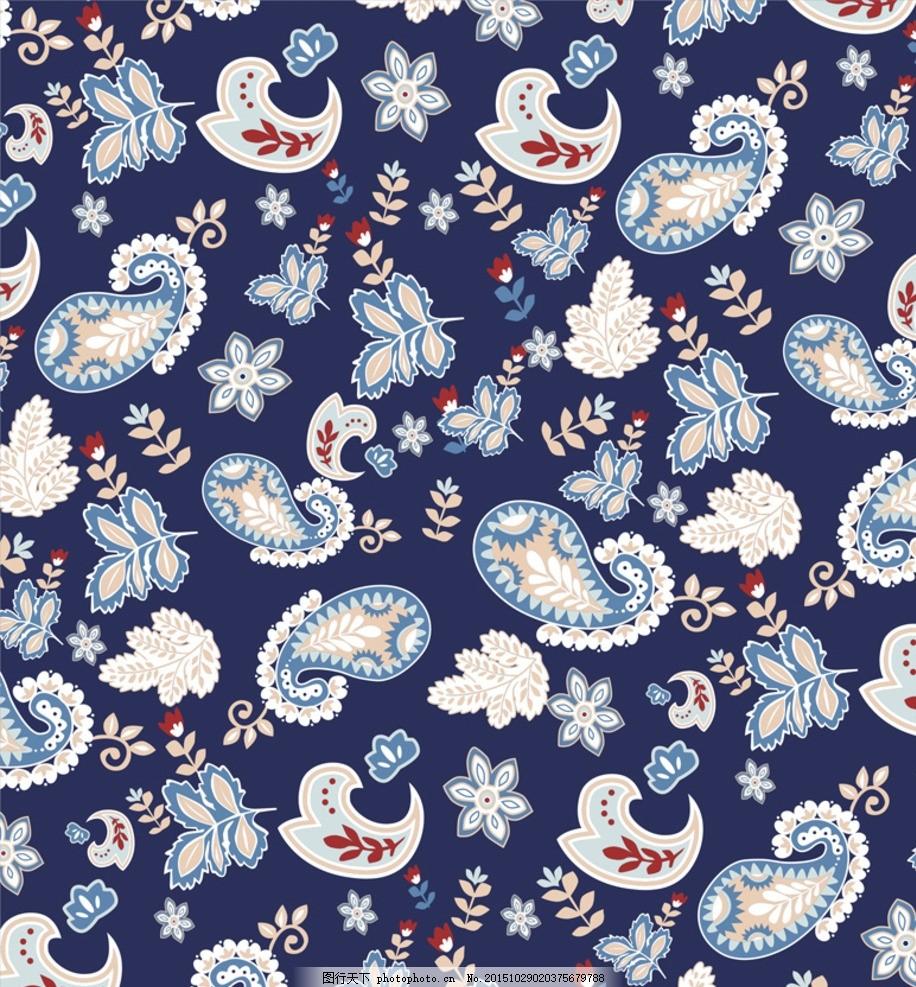 布匹印花 底纹背景 服装图案 植物花纹 欧式花纹 抽象底纹 小碎花