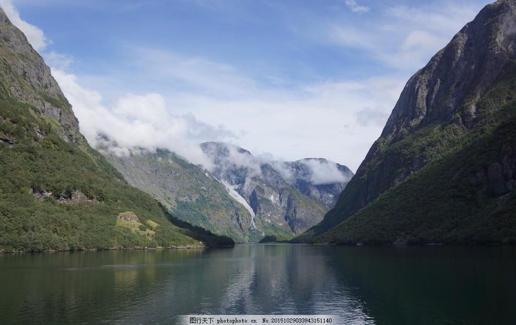 挪威峡湾 挪威王国 挪威 挪威风景 北欧 北欧峡湾 树木 山水 挪威