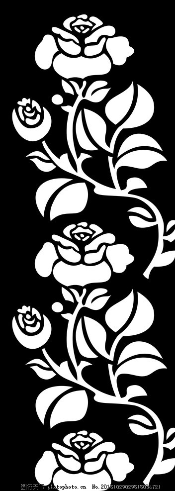 花边隔断矢量图镂空雕刻 镂空隔断 镂空花纹图案 欧式花纹