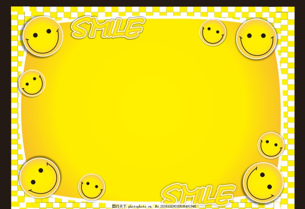 笑脸 微笑 黄色背景 可爱笑脸 圆脸 卡通 卡片 好看笑脸