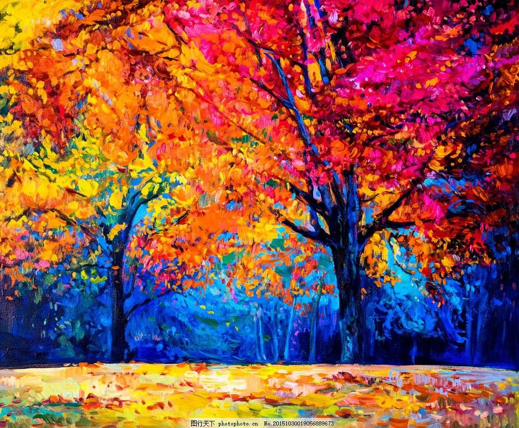 秋天油画 乡村田园 美式田园地 风景油画 欧式古典 世界名画 西方油画