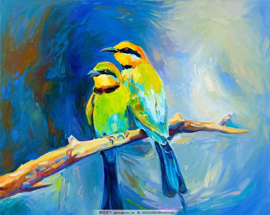 鸟 水彩画 鸟 水粉画 欧式古典 世界名画 西方油画 艺术油画 古典风景