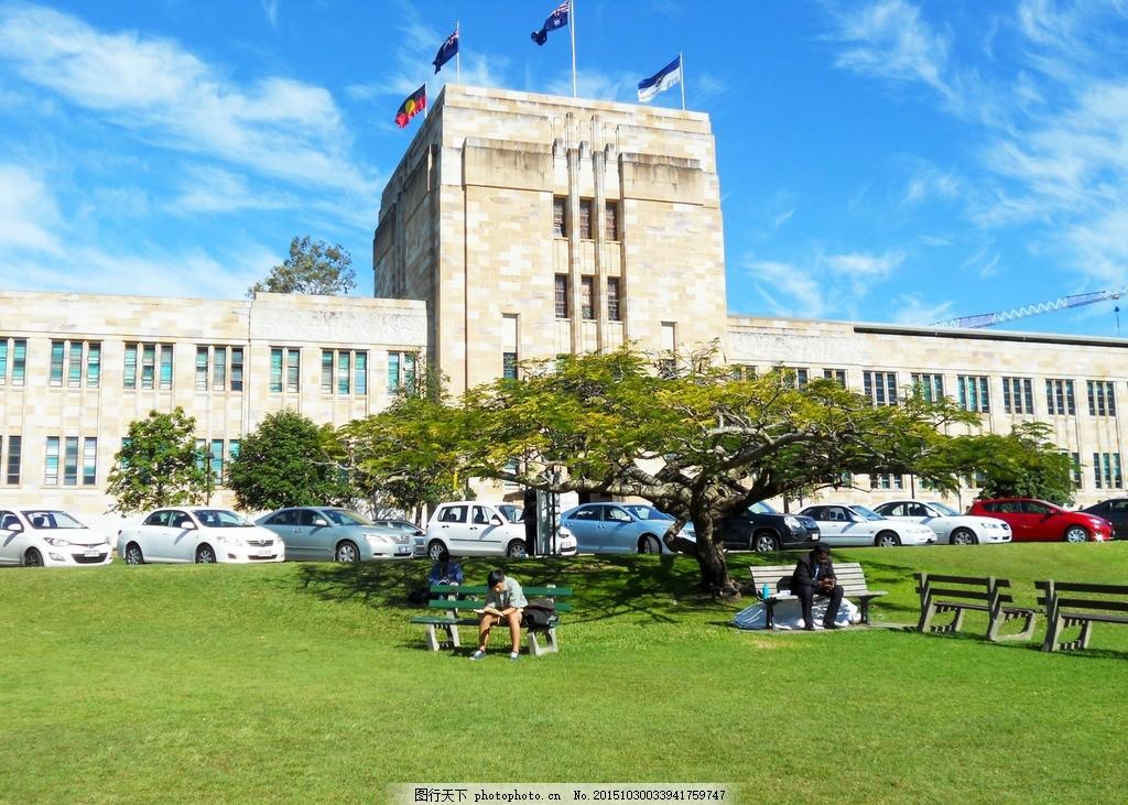 库里斯班大学 学校 教育 风景 草地 澳大利亚 摄影 国外旅游