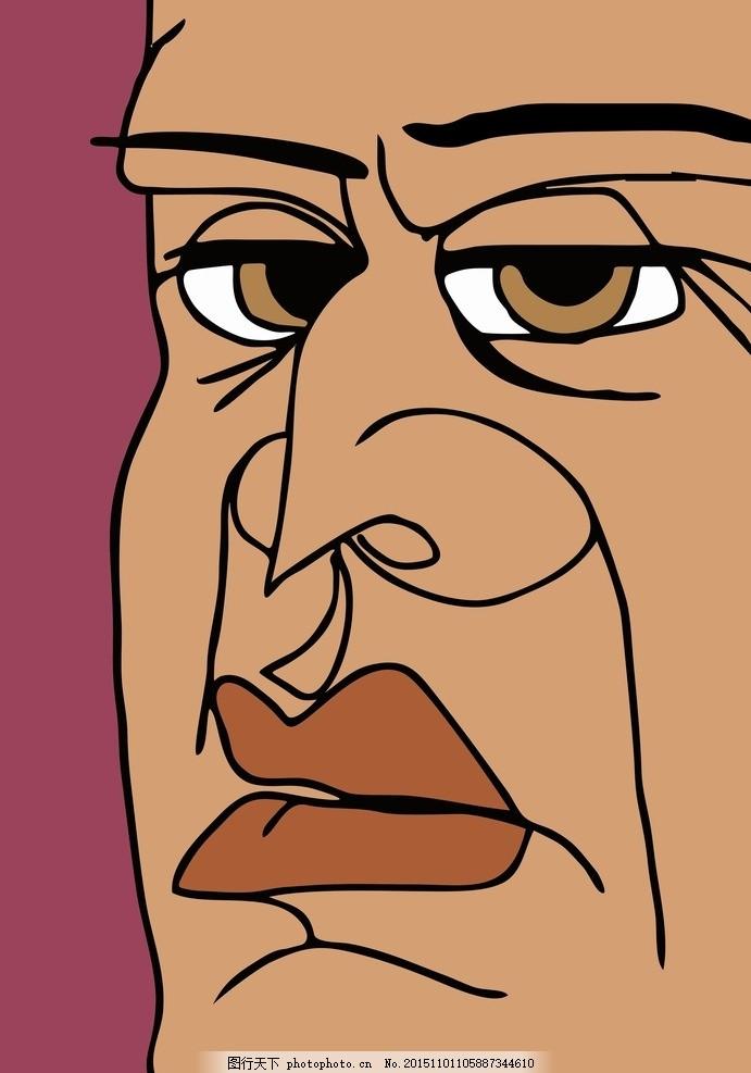 人物插画 男人 插画 抽象 现代 人物素材 设计 动漫动画 动漫人物 cdr