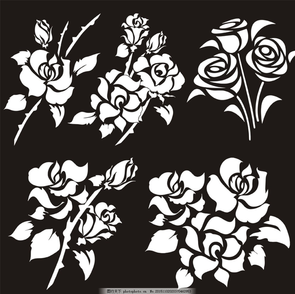 花卉图案 花卉 图案 玫瑰花 简笔画 花束 t恤&amp 图案 设计 底纹边框